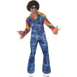 1970's Disco Denim Jumpsuit
