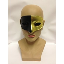 Black And Gold Bicolor Eyemask