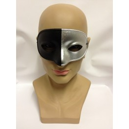 Black And Silver Bicolor Eyemask