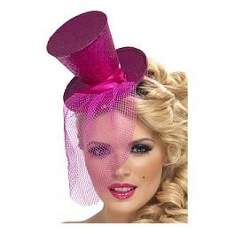 Pink Glitter Mini Top Hat