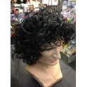Wet Look Curly Maradona Kevin Keegan Wig