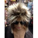 Rod Stewart Two Tone Spikey Wig