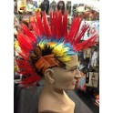 Multi Coloured Post Punk Mohican Wig