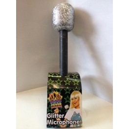 Fake Microphone With Glitter Top Chaplins