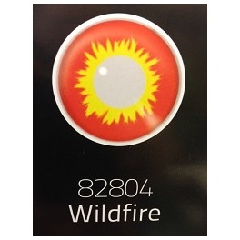 Red And Yellow Wildfire Crazy Coloured Eye Accessories