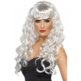 Long Wavy White Siren Wig