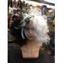 Black And White Cruella De Vil Wig