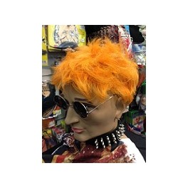 Sex Pistol Johnny Rotten Orange Punk Wig