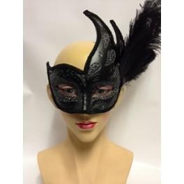 Ornate Columbina Feathered Eyemask