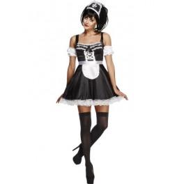 French Maid Magenta Costume